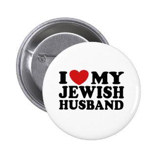 Amo a mi marido judío pin redondo 5 cm