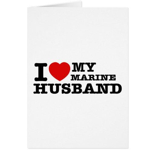 Amo a mi marido marino tarjeta de felicitación