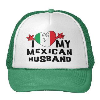 Amo a mi marido mexicano gorros bordados