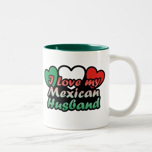 Amo a mi marido mexicano taza de dos tonos