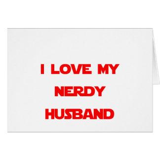Amo a mi marido Nerdy Felicitaciones