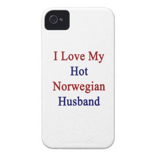 Amo a mi marido noruego caliente Case-Mate iPhone 4 protectores