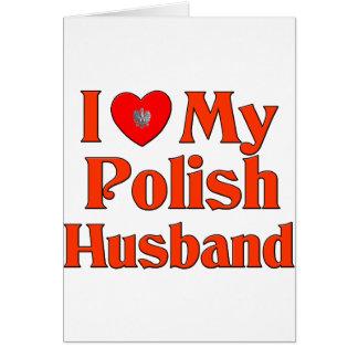 Amo a mi marido polaco tarjeta de felicitación