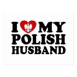 Amo a mi marido polaco tarjeta postal