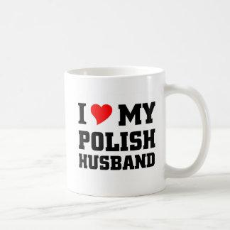 Amo a mi marido polaco taza clásica