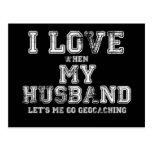 ¡Amo a mi marido! Postal