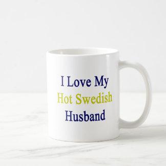Amo a mi marido sueco caliente taza de café