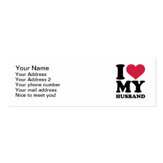 Amo a mi marido tarjetas de visita