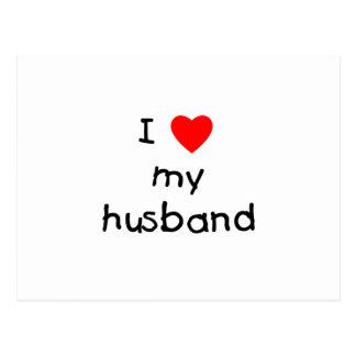 Amo a mi marido tarjeta postal