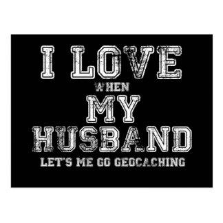 ¡Amo a mi marido! Tarjeta Postal