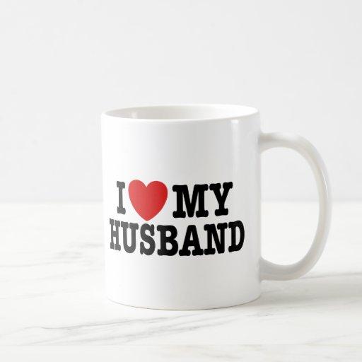 Amo a mi marido taza básica blanca