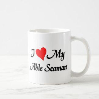 Amo a mi marinero capaz taza