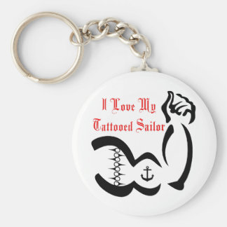 Amo a mi marinero de Tattoed Llavero Redondo Tipo Pin