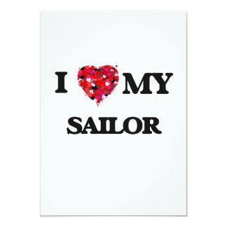 """Amo a mi marinero invitación 5"""" x 7"""""""