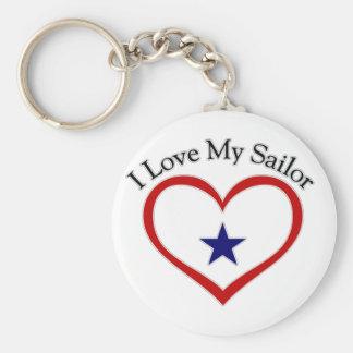 Amo a mi marinero llavero redondo tipo pin