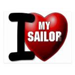 Amo a mi marinero - marina de guerra de los E.E.U. Tarjetas Postales