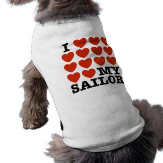 Amo a mi marinero camisetas de perrito
