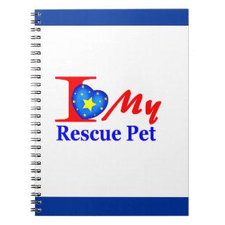 """Amo a mi mascota """"Heroes4Rescue """" del rescate Cuadernos"""