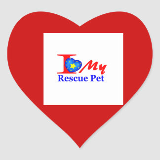 "Amo a mi mascota ""Heroes4Rescue "" del rescate Pegatina En Forma De Corazón"
