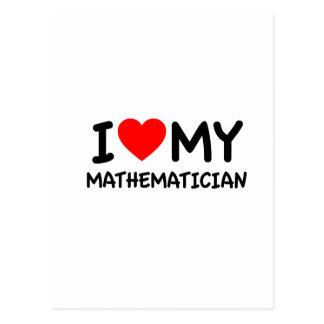 Amo a mi matemático tarjetas postales