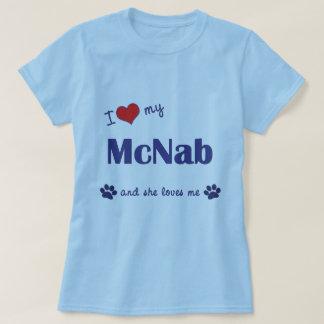 Amo a mi McNab (el perro femenino) Remera
