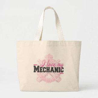 Amo a mi mecánico bolsas de mano