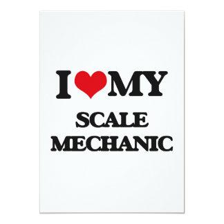 Amo a mi mecánico de la escala invitación 12,7 x 17,8 cm