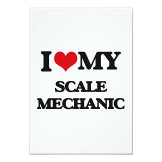 Amo a mi mecánico de la escala invitación 8,9 x 12,7 cm