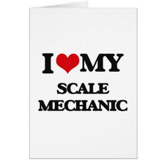 Amo a mi mecánico de la escala tarjetón