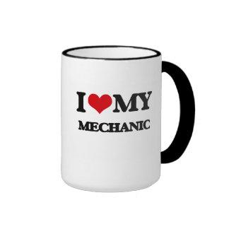 Amo a mi mecánico taza de dos colores