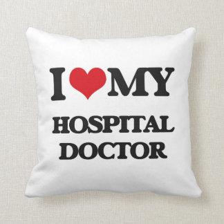Amo a mi médico de hospital almohadas