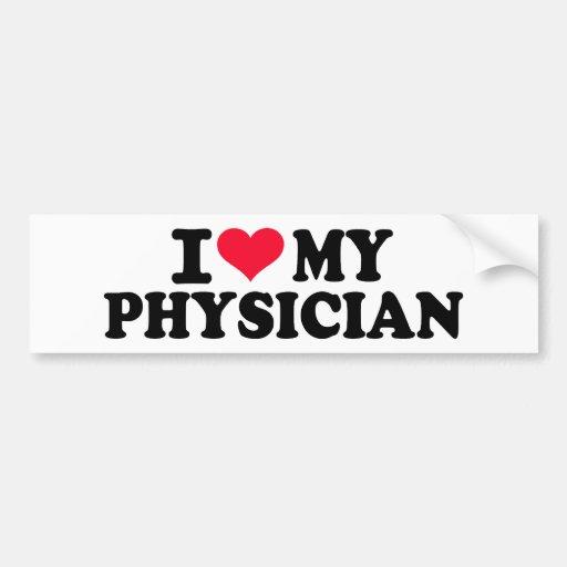 Amo a mi médico etiqueta de parachoque