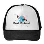 Amo a mi mejor amigo - autismo gorras de camionero