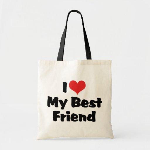 Amo a mi mejor amigo bolsas de mano