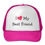 Amo a mi mejor amigo gorros bordados