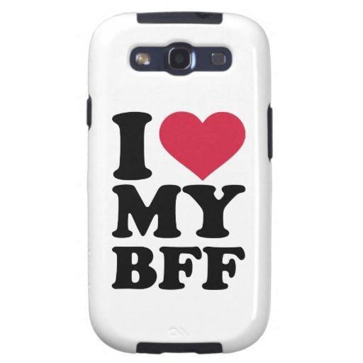 Amo a mi mejor amigo para siempre BFF Galaxy SIII Fundas