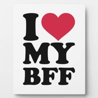Amo a mi mejor amigo para siempre BFF Placa Para Mostrar