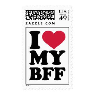 Amo a mi mejor amigo para siempre BFF Sellos