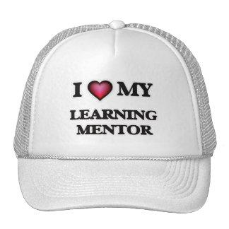 Amo a mi mentor de aprendizaje gorros