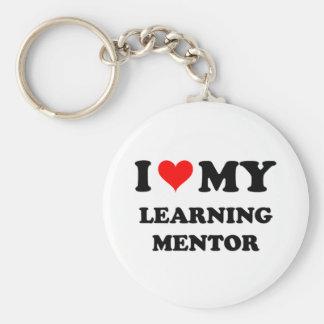 Amo a mi mentor de aprendizaje llavero