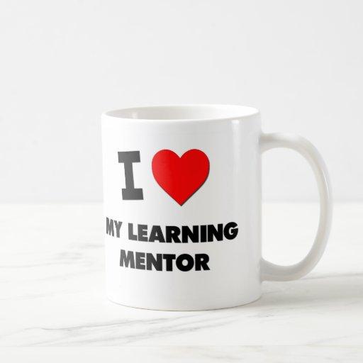 Amo a mi mentor de aprendizaje taza de café