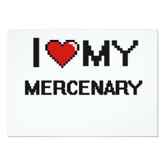 Amo a mi mercenario invitación 12,7 x 17,8 cm
