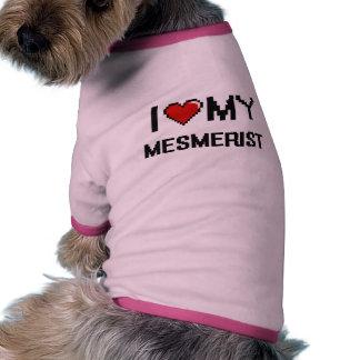 Amo a mi Mesmerist Camiseta Con Mangas Para Perro