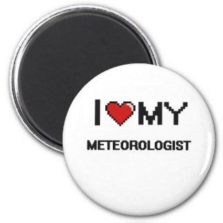 Amo a mi meteorólogo imán redondo 5 cm