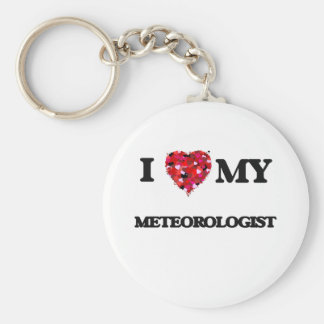 Amo a mi meteorólogo llavero redondo tipo pin