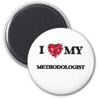 Amo a mi metodoligista imán redondo 5 cm