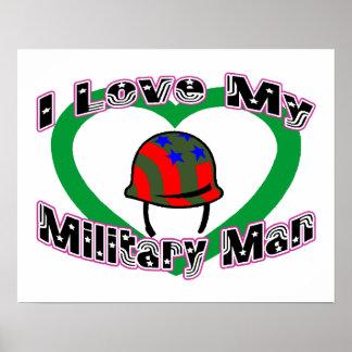 Amo a mi militar póster