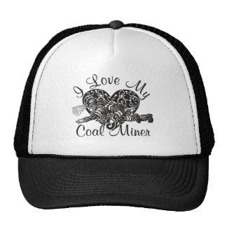 amo a mi minero de carbón gorras de camionero