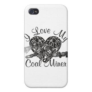 amo a mi minero de carbón iPhone 4/4S funda