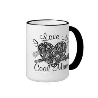 amo a mi minero de carbón taza de dos colores